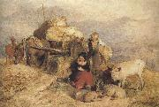 Sir edwin henry landseer,R.A. Sketch for Harvest in the Highlands (mk37) oil painting